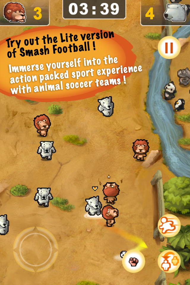 Screenshot Smash football – the ultimate arcade soccer – lite free